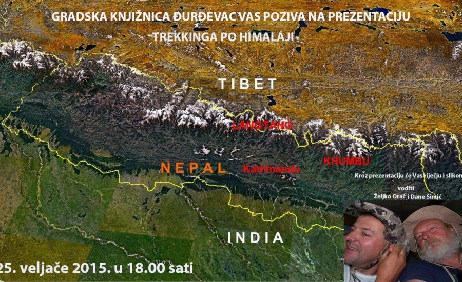 """Poziv na predavanje """"Trekking po Himalaji"""""""