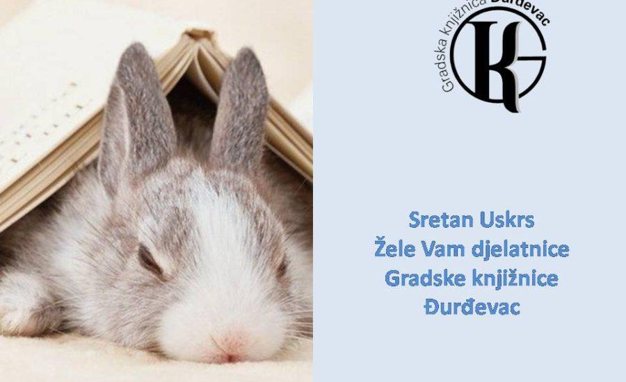 Sretan Uskrs žele Vam djelatnice Gradske knjižnice Đurđevac