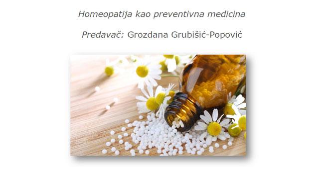 Homeopatija kao preventivna medicina – predavanje