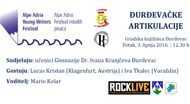 Alpe Adria Young Writers Festival – Đurđevačke artikulacije