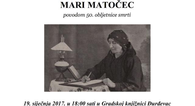Predstavljanje kalendara-plakata poezije za 2017. godinu posvećenog MARI MATOČEC