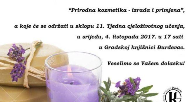 """Predavanje Irene Martinčić """"Prirodna kozmetika-izrada i primjena"""""""