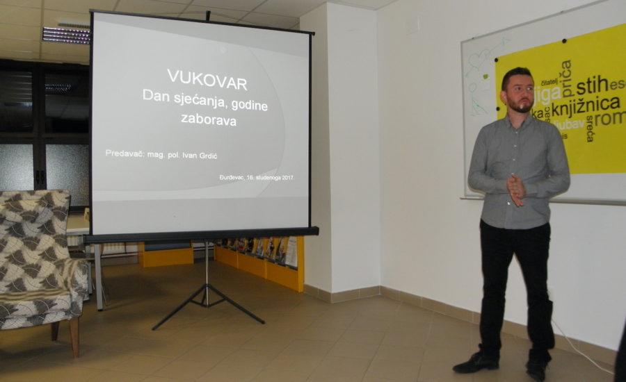Predavanje o sjećanju na Vukovar