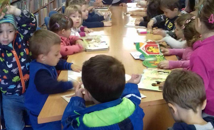 Ježići u Gradskoj knjižnici Đurđevac