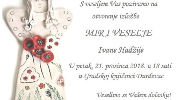 """Izložba likovnih radova """"Anđeli"""" – Ivana Hadžija"""