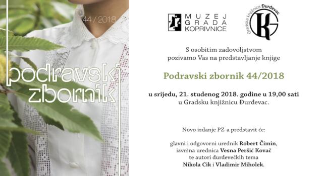 """Predstavljanje knjige """"Podravski zbornik 44/2018"""""""