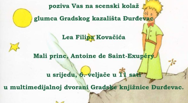 Scenski kolaž glumca Gradskog kazališta Đurđevac Lea Filipa Kovačića