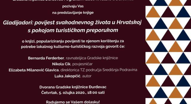 """Promocija knjige """"Gladijadori"""" – L. Jakopčić i N. Cik"""