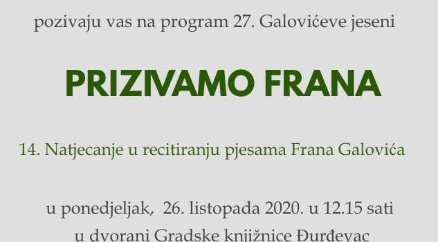 Prizivamo Frana